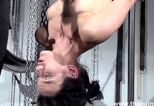 Breaking Elise Graves in hardcore bdsm and bondage swing pussy spanking