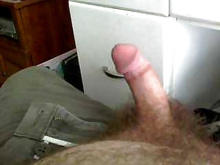 Hairy man spankin his dick
