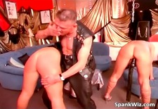 sexy blonde babe gets hot ass spanked