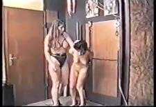 spanking badlling caning girl