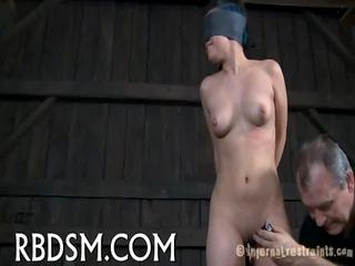 hard flogging for masked babe