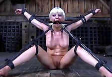 Slave receives ass whipping before pussy torturing