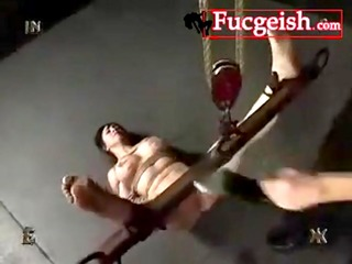 old slut has her tits and arms tied and gets whipped video