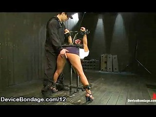 bound bent over babe ass flogged