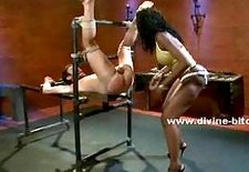 black queen with large breasts whipping
