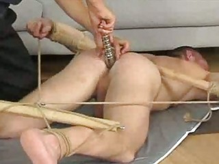 Extreme bondage and spanking for sexy twinks