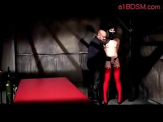 Girl In Latex Outfit Spanked Getting Toy To Asshole Masturbating With Vibrator Master Dungeon