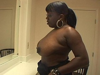 Big Black Beauty  Gets Her Butterfly Spanked.