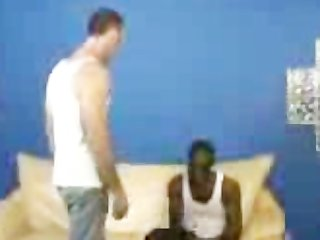 black dude spanked by white