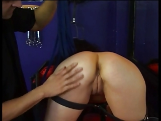 Brunette babe has her sexy ass whipped