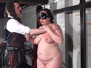 Bbw whipping of Nimue in hardcore dungeon spanking