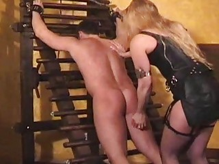 Her ass is soundly spanked