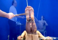 feet whipping bondage and foot fetish of amateur bdsm slave girl beauvoir