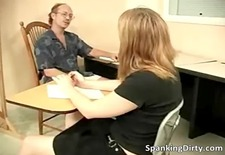kinky older dude gets ass spanked hard