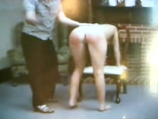 Aunt disiplines naughty neice with a spanking..