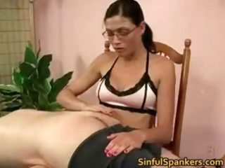 Two hot babes spank this man  part2