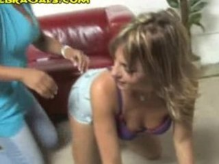 Ebony Lesbo Girl Punishes White Babe