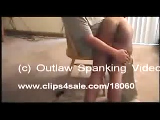 black chick gets spanked