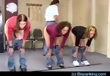3 girls spanked hard