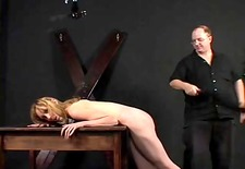miniature mambos lady spanked and teased by her corporalist