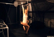 Blonde Daytona hard ass whipped and leashed for sucking
