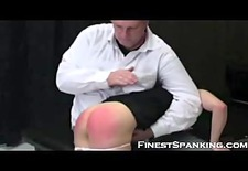 Red asses in this spanking fetish