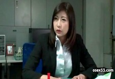 Asian office girl humiliated and spanked