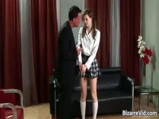 Nasty schoolgirl babe gets spanked hard part5