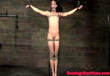 Skinny submissive gets wax treatment