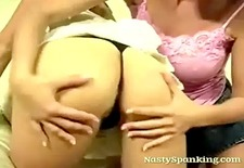 Girls Spanking Each Others Ass