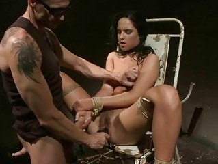 Hot slavegirl getting painfully punished