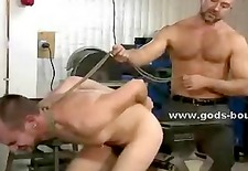 Hard men mess around with the wrong person in workshop getting st