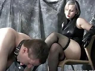 mistress completely dominates her slave turned worthless dog