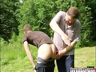 Spanking in the woods