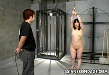 Japanese girl whipped and bound
