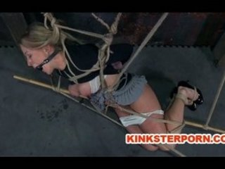 Lesbian BDSM Pervert Slave Dia Zerva Whipped in Bondage