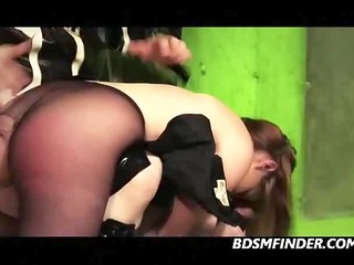 spanked whipped and toyed in nylons