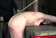 BDMS fetish sub Mollie Rose caned hard