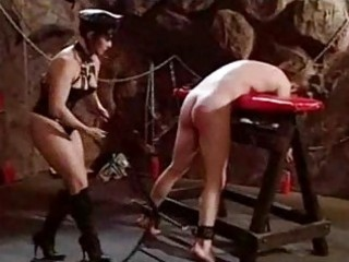 Femdom spanks her submissive
