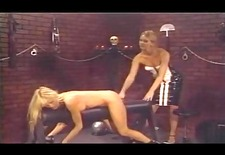 blond lesbo gets the whip