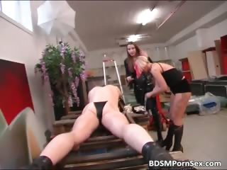 German BDSM play where two sluts spank part2