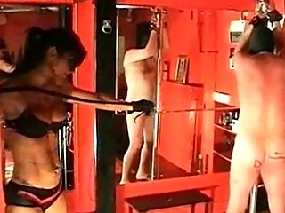 Mistress dometria spanking her slave part 3