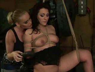 Classy mistress punishing slavegirl