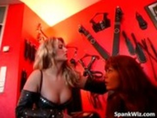 Hot looking redhead gets spanked
