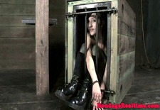 BDSM sub Mollie Rose getting whipped