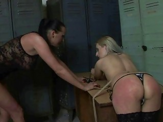 Mistress punishing hot girl