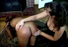Spanking and hot wax
