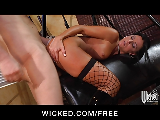 Wicked - Kinky brunette India Summer loves to be spanked