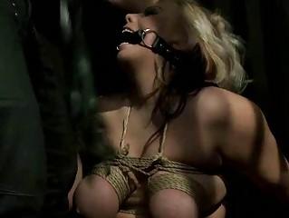 Blond bitch being bondaged and punished