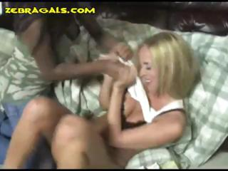 Two lesbians with the ebony babe punishing the blonde by spanking
